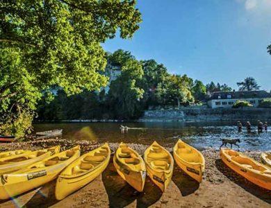 Profitez de la rivière Dordogne: canoë baignade