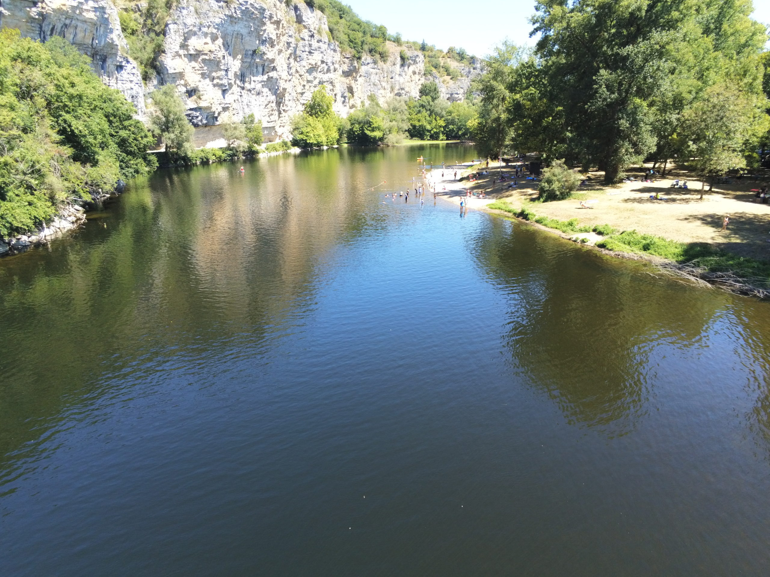 bords de rivière, Vallée de la Dordogne, Camping Les Falaises, Lot, Martel, Rocamadour, Padirac, Lot, nature, falaises, rivière